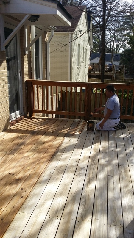 Deck Staining Job #3