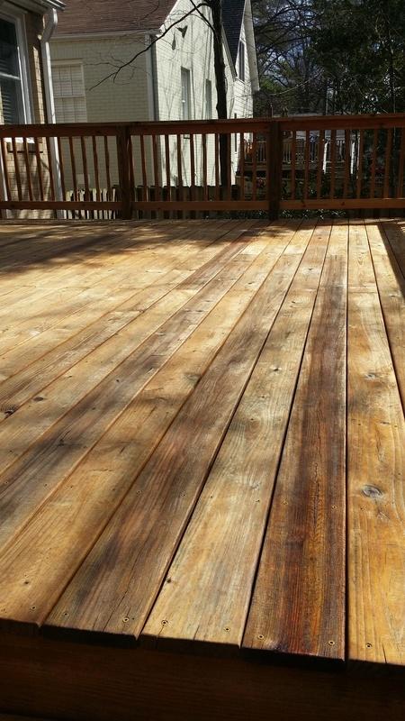 Deck Staining Job #5